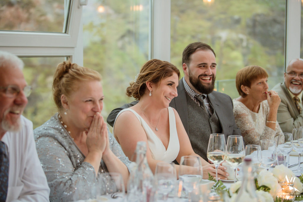 Frost and Fire Guesthouse wedding reception
