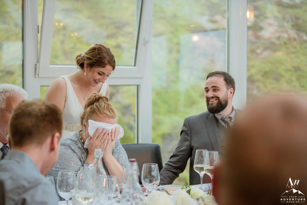 Brandi and Zach's Iceland wedding reception