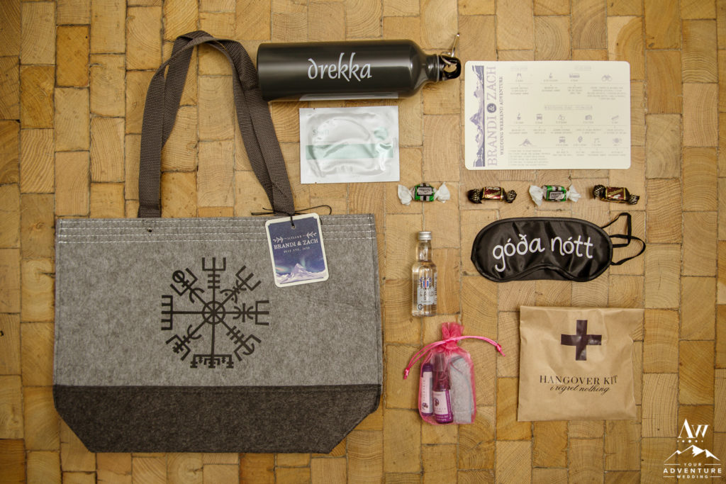 Iceland Destination Wedding Welcome Bag
