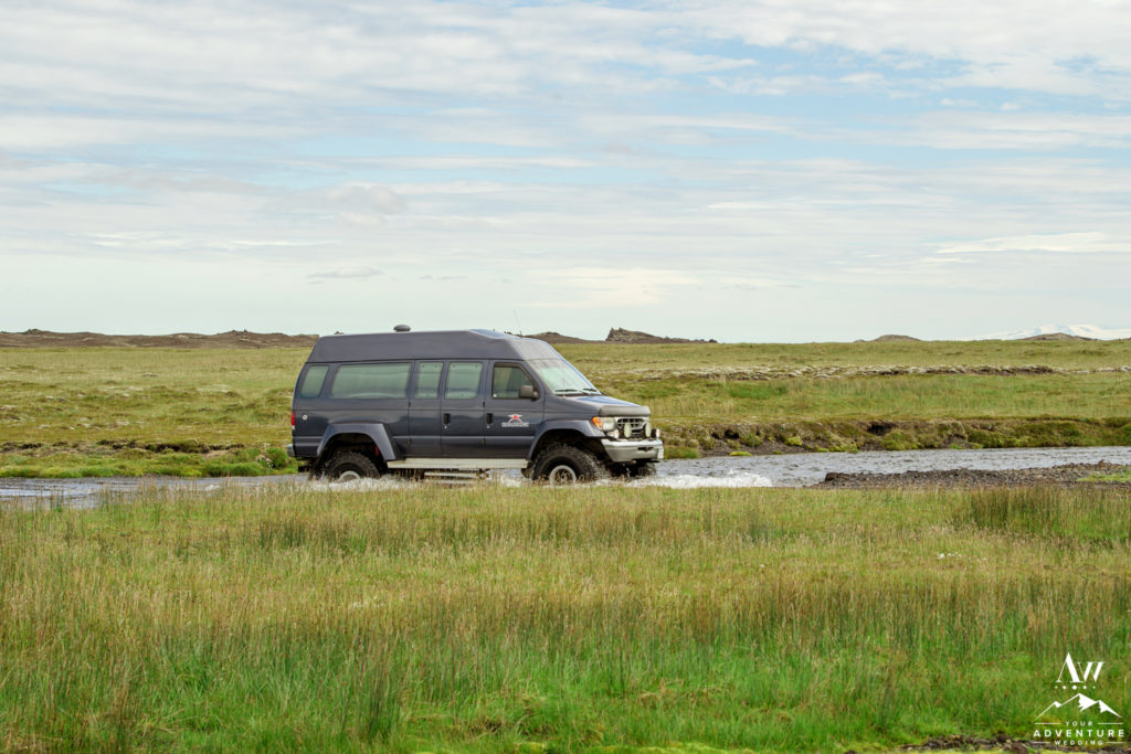 Iceland Super Jeep Wedding Crossing Rivers