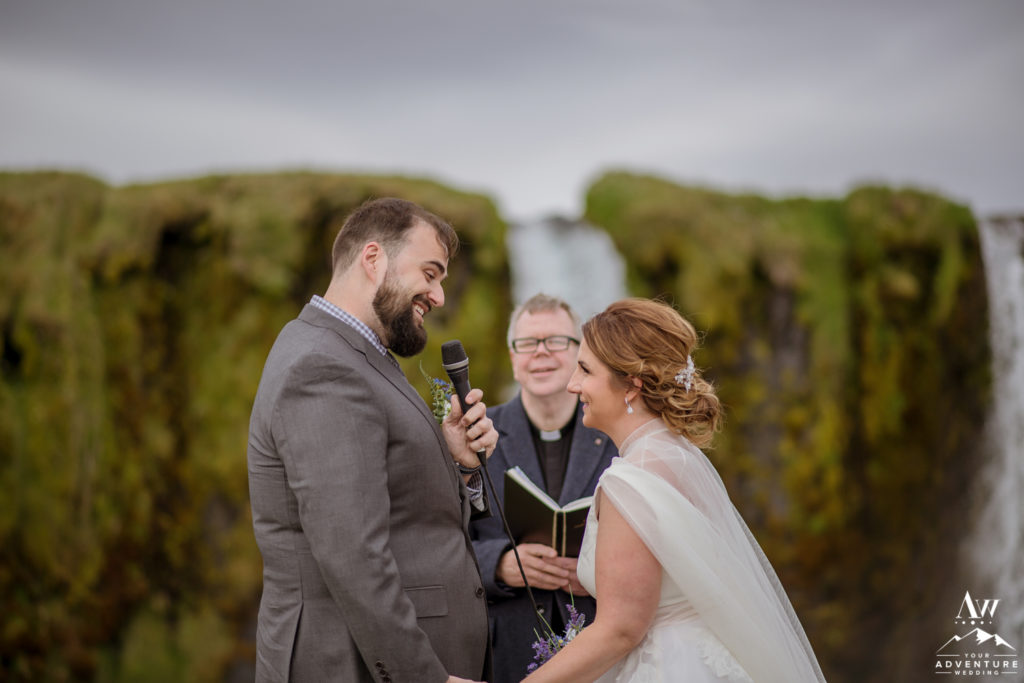 Iceland Wedding Couple saying Vows