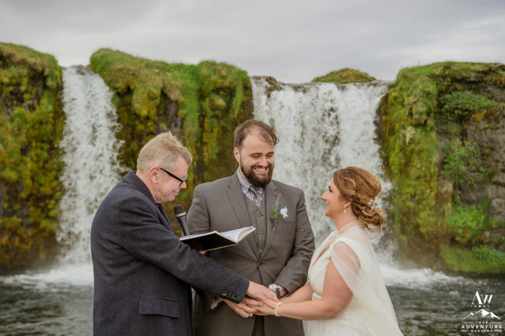 Private Waterfall Wedding Ceremony