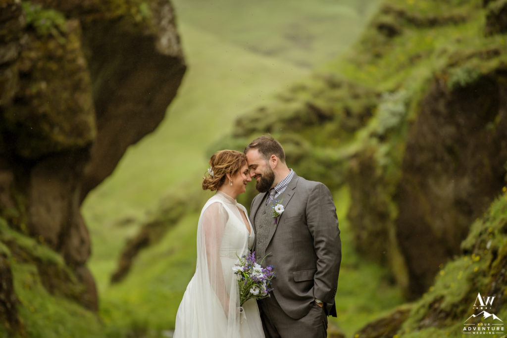 Iceland Wedding Photographer captures couple in canyon