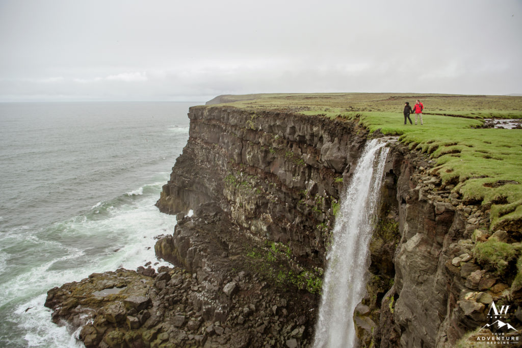 Cliff Side Waterfall Proposal in Iceland