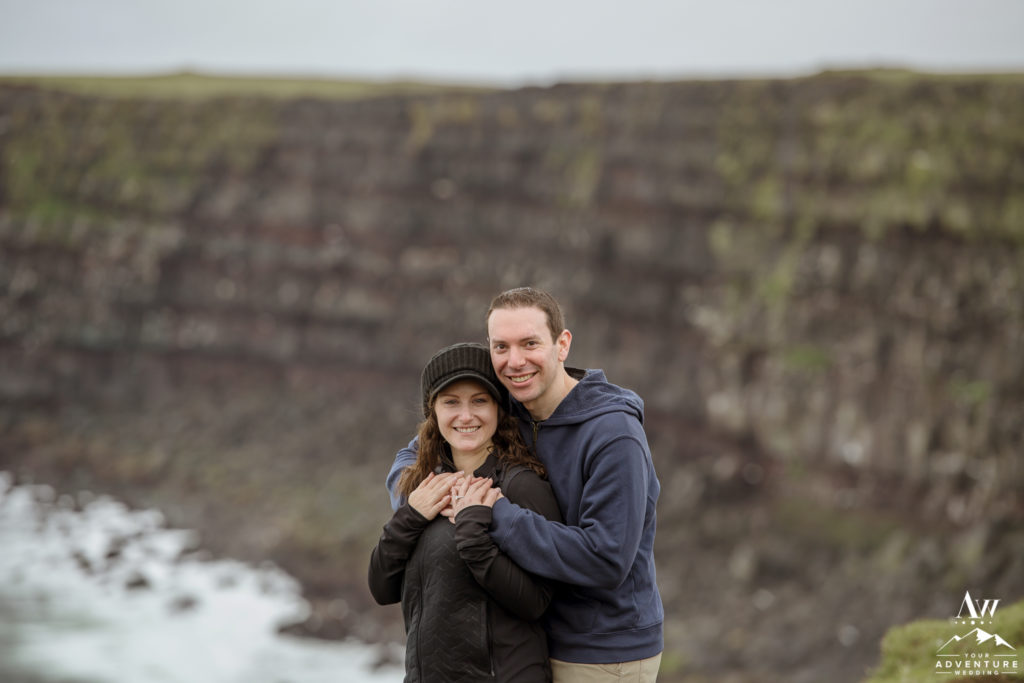 Adventurous Engaged Couple in Iceland