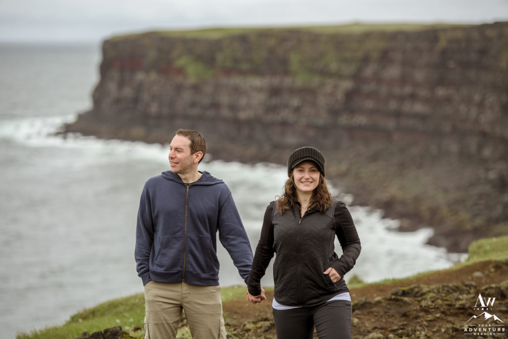 Iceland Cliff side engagement Session