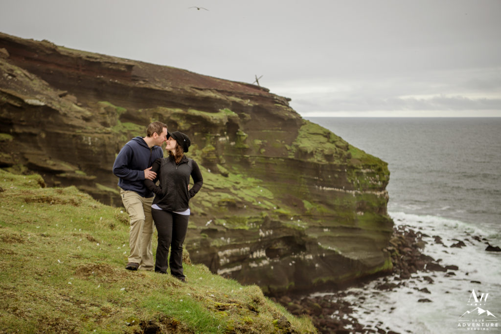 Cliff side Proposal Photos in Iceland