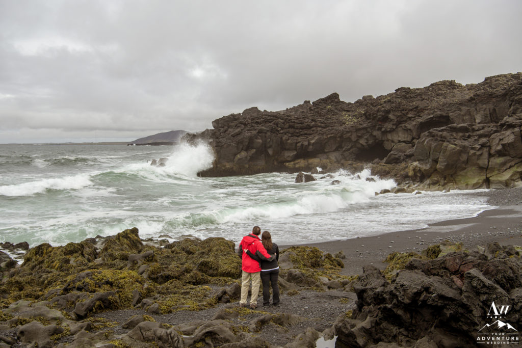 Black Beach Marriage Proposal Location