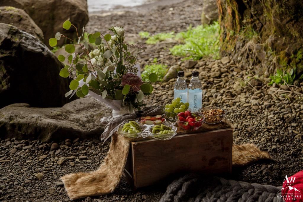 Iceland Proposal Picnic Setup