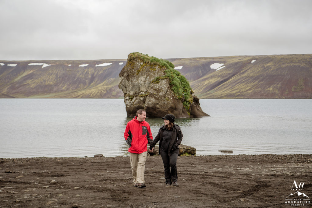 Lakeside Engagement Photos in Iceland