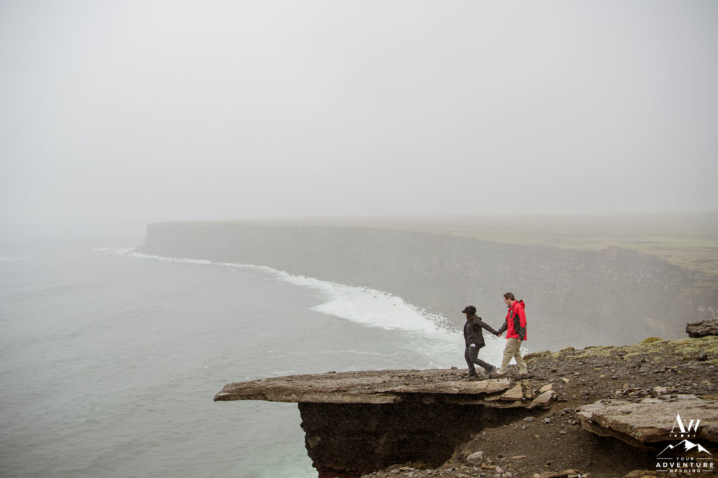 Engaged Couple Exploring in Iceland
