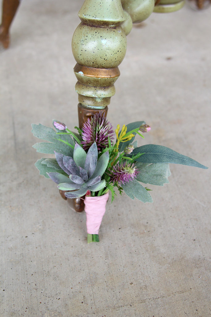 Succulent Buttonhole Blues and Purples