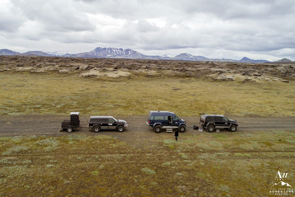Iceland Wedding via super jeeps