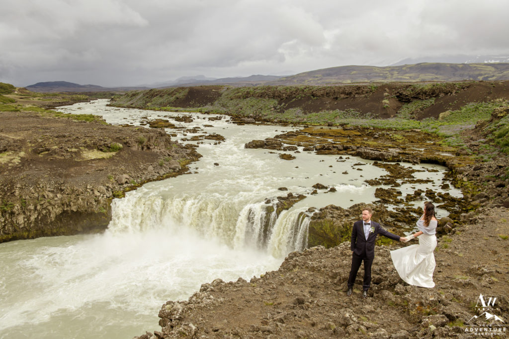 Unique Waterfall Wedding Photos