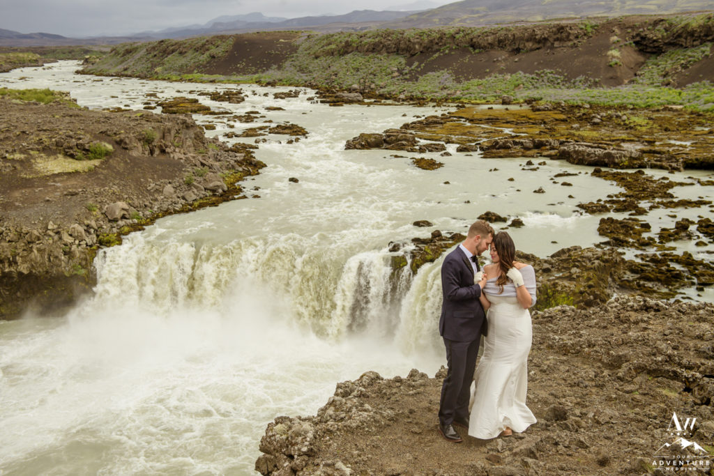 Highland waterfall wedding exploration