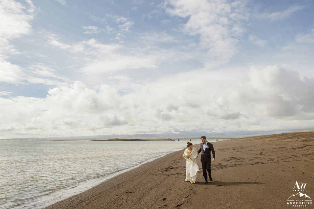 Black Beach Iceland wedding photos