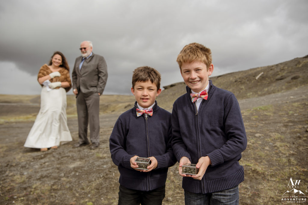 Iceland Wedding Ceremony Brides Ring Bearers
