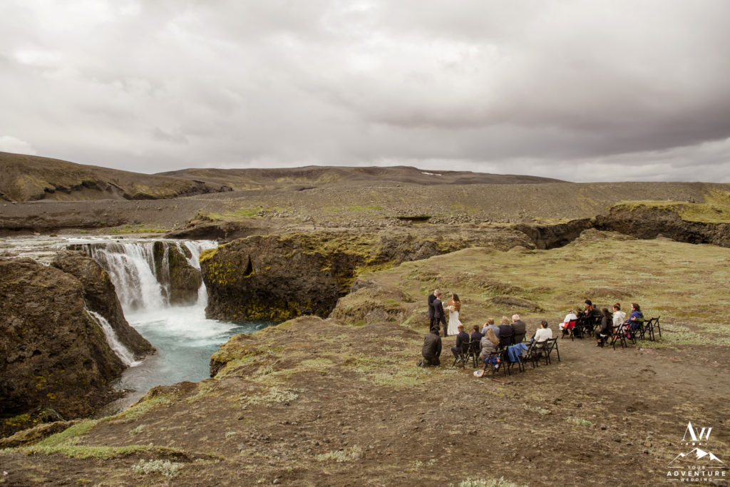 Iceland Wedding Ceremony at a Offbeat Waterfall