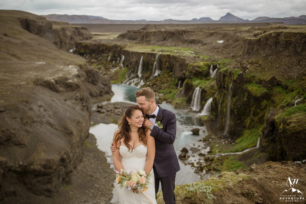 Iceland Groom Kissing Bride on the forehead