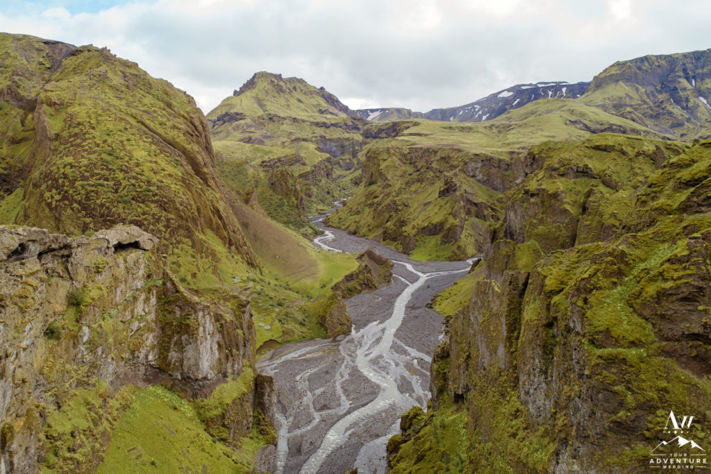 Unique Canyon in Thorsmork Iceland