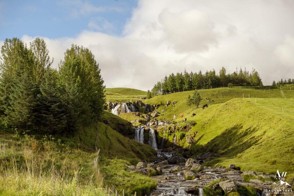 Iceland Waterfall that looks like Narnia