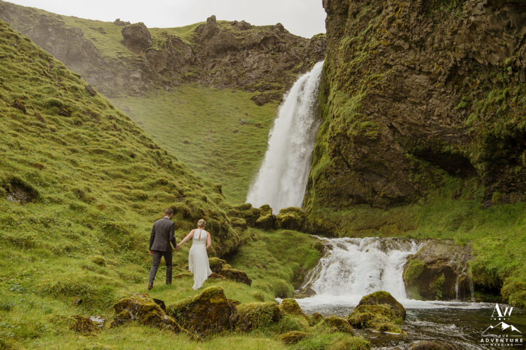 Iceland Hiking Elopement Couple Exploring
