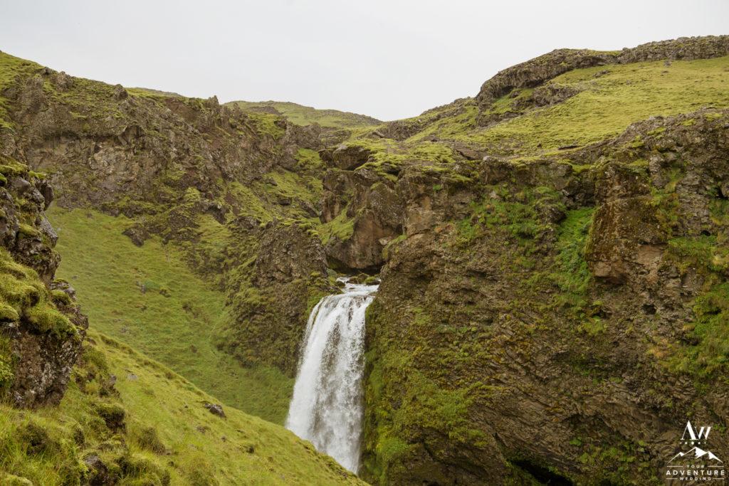 Iceland waterfall wedding location