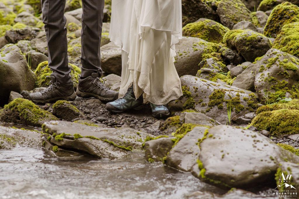 Iceland hiking wedding boots