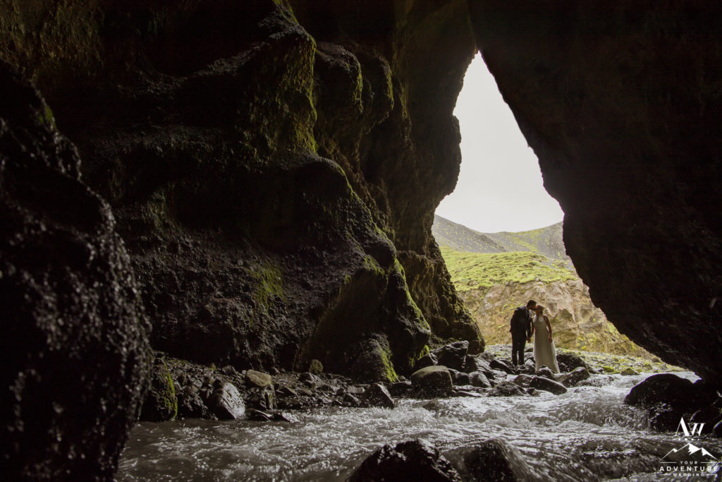 Iceland Wedding Location Riverside Cave