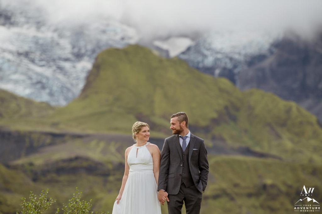 Glacier outlet wedding photos