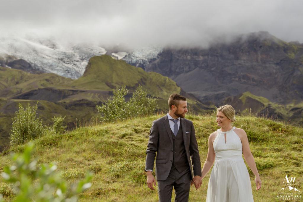 Iceland Wedding couple exploring in Iceland