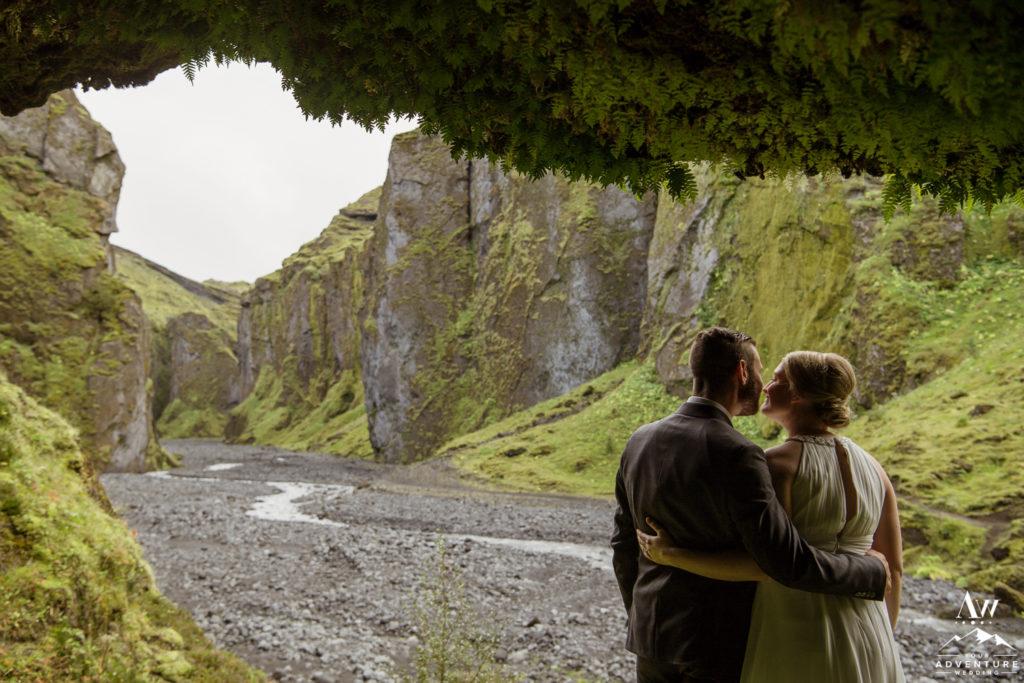 Canyon wedding photos in Iceland
