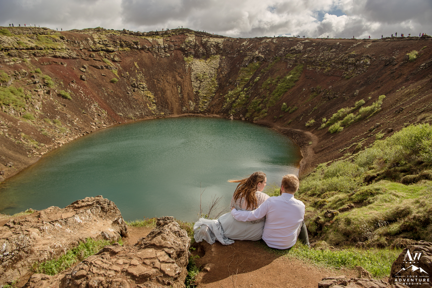 Kerid Volcano Crater Iceland Wedding Photos