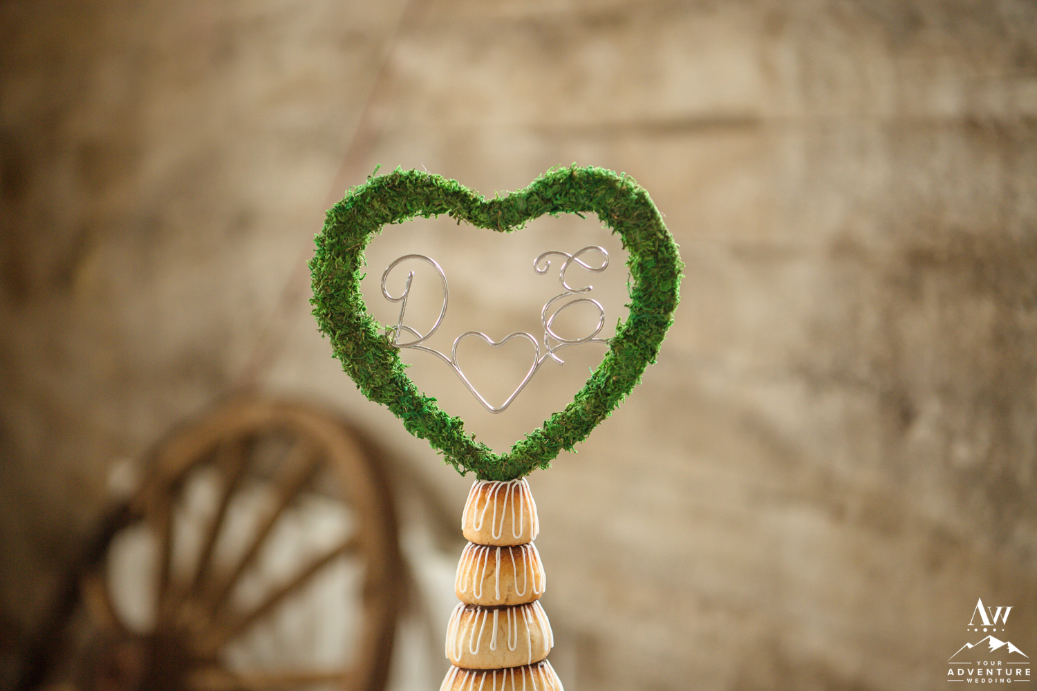 Moss Cake Topper for Iceland Wedding