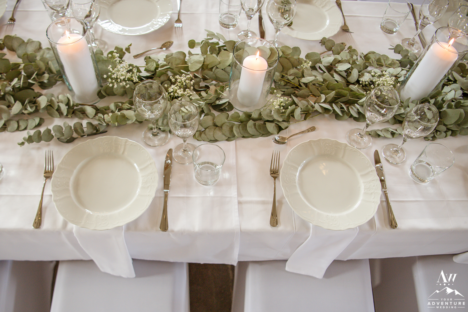Table Setting for Iceland Wedding Reception