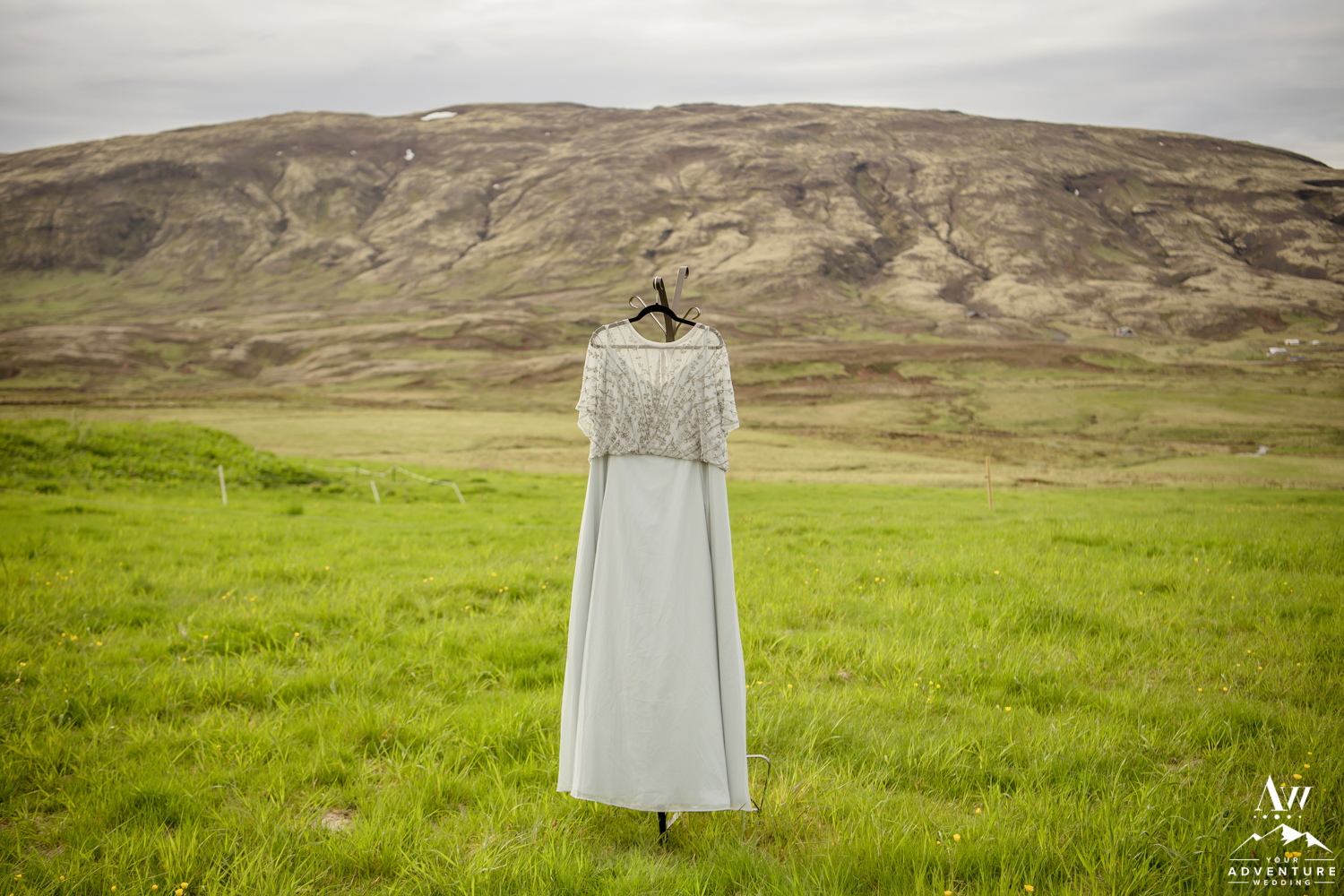Iceland Wedding Dress at Hotel Borealis