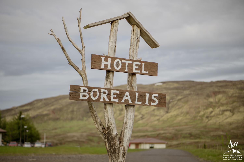 Hotel Borealis Entrance Sign