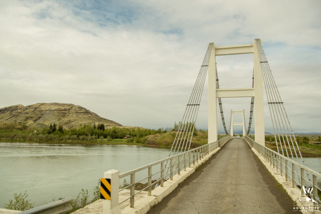Iceland Wedding Adventure Landscape Photo Bridge