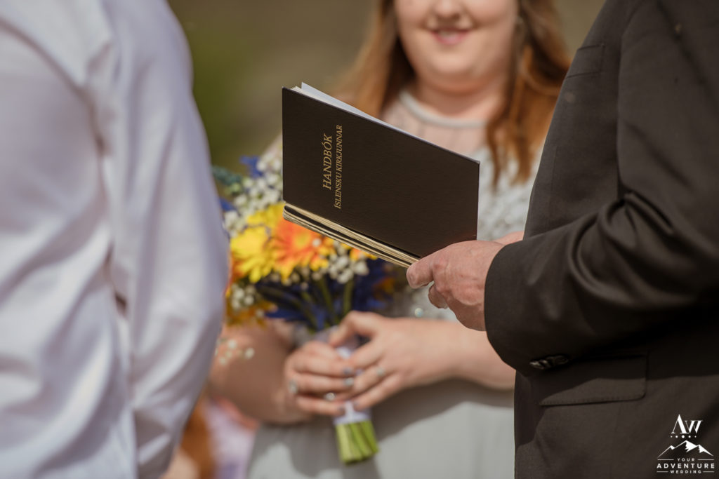Iceland Wedding Ceremony book