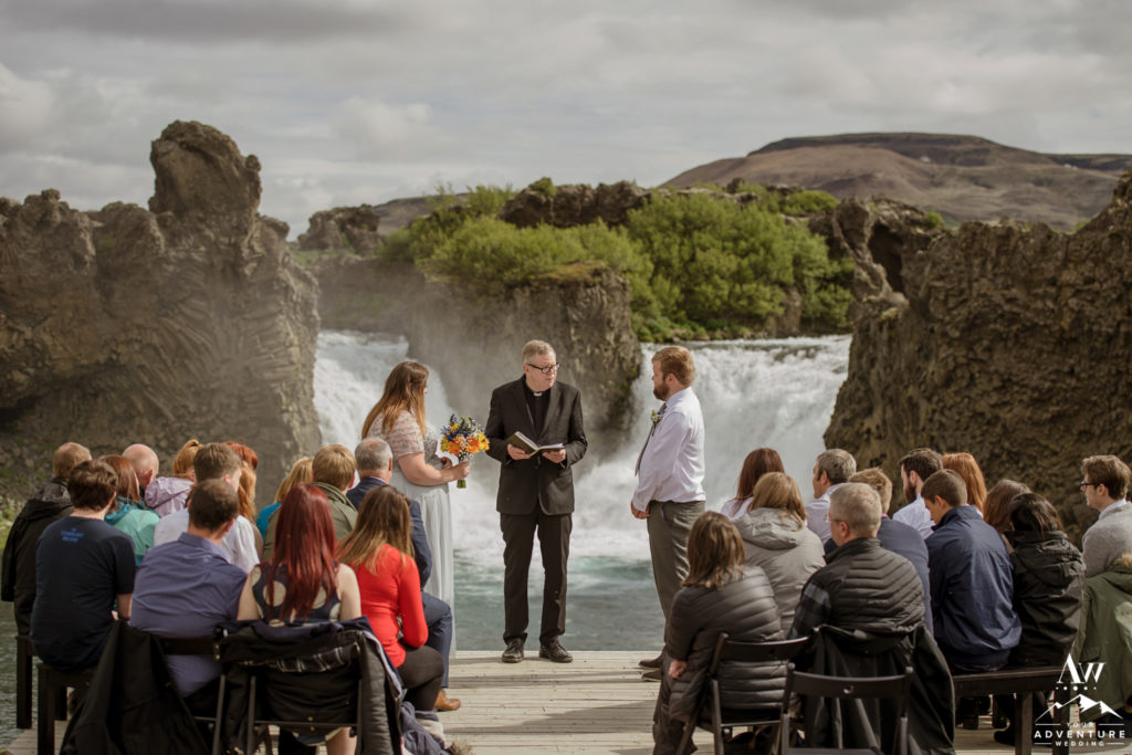 Hjalparfoss Waterfall Ceremony in Iceland