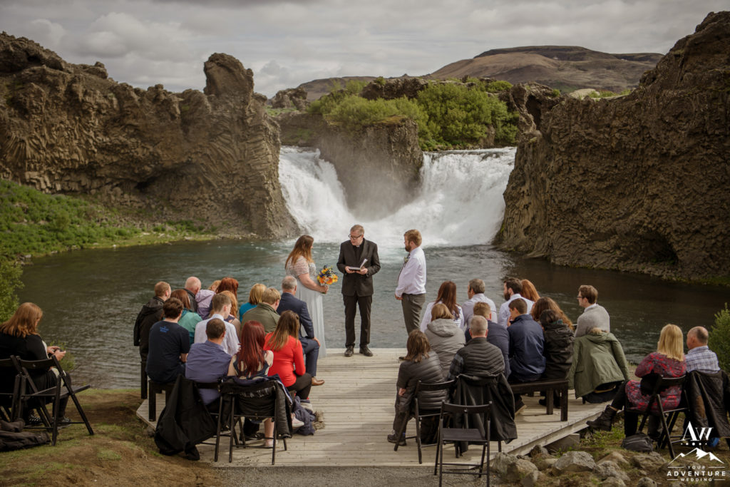 Hjalparfoss Waterfall Wedding Ceremony