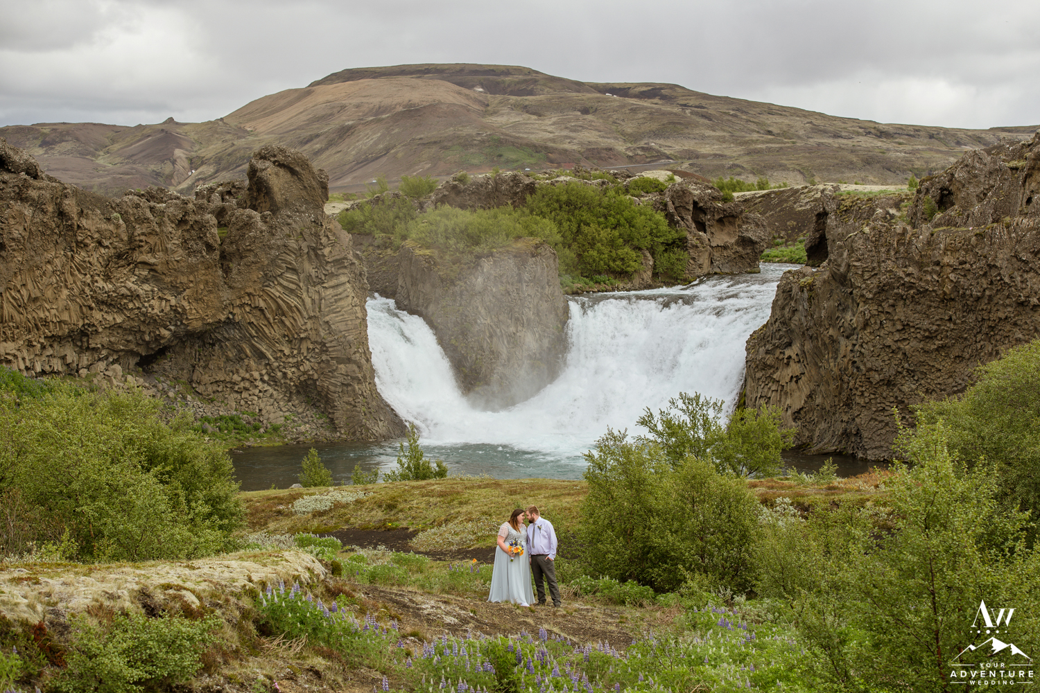 Summer Wedding at the Unity Waterfall