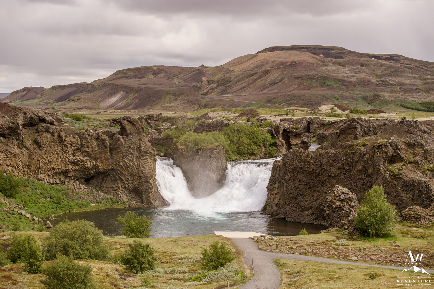 Hjalparfoss Waterfall Iceland Wedding Location