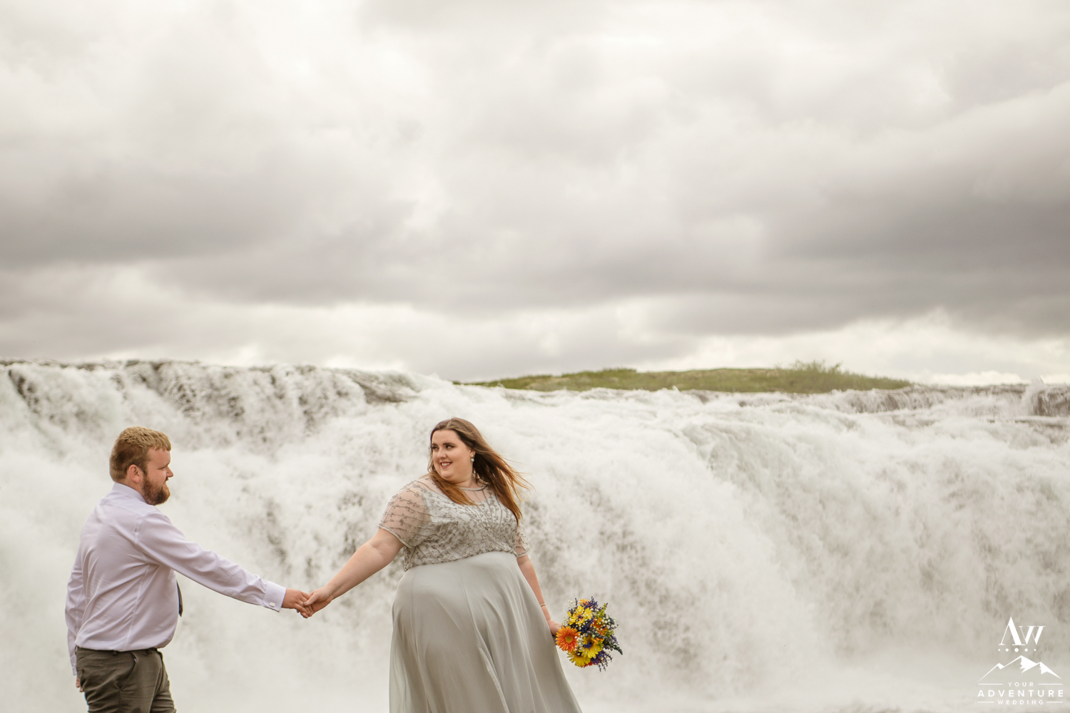 Faxafoss Waterfall Wedding Location Iceland