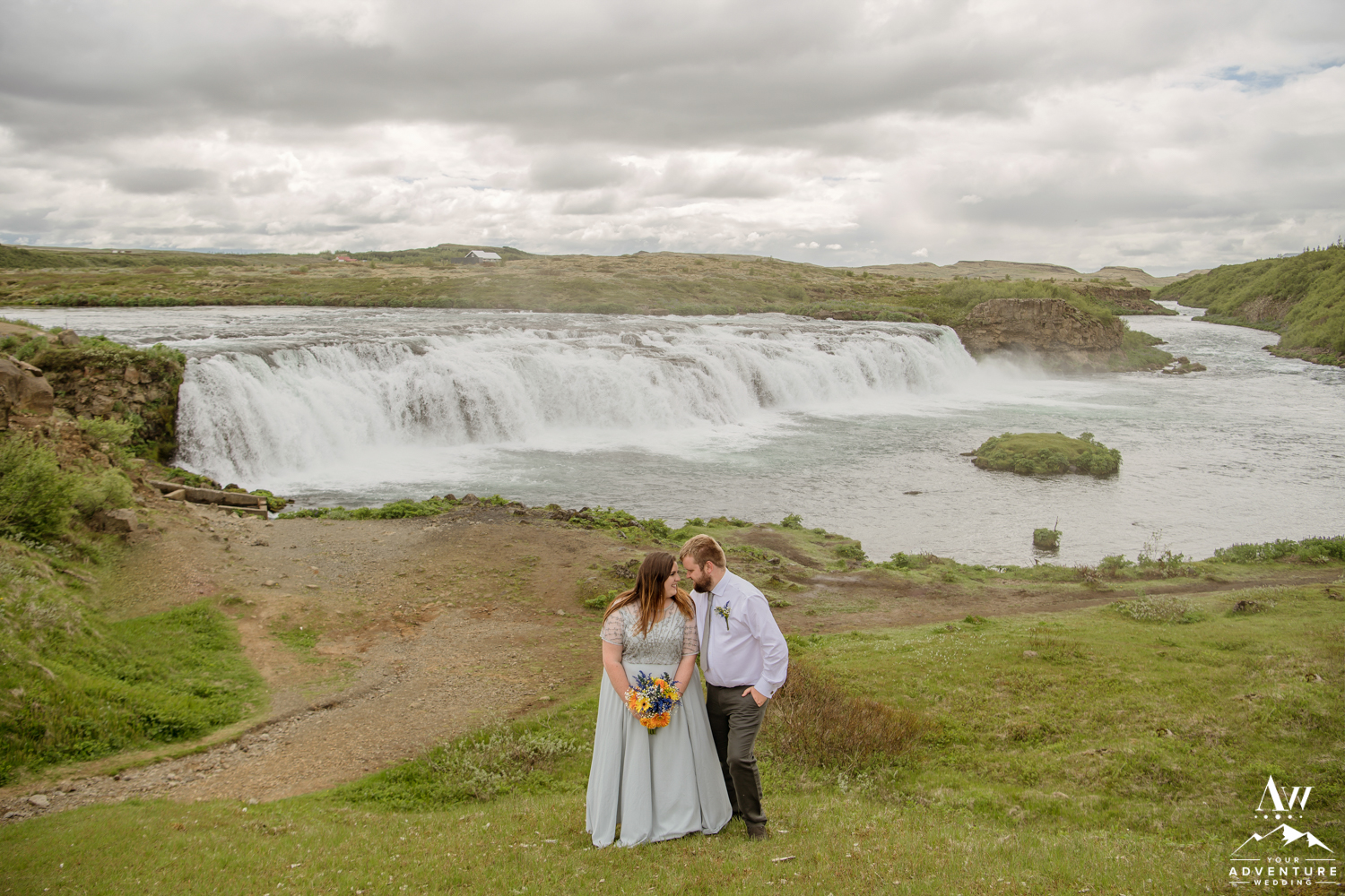Faxafoss Waterfall Wedding Photos