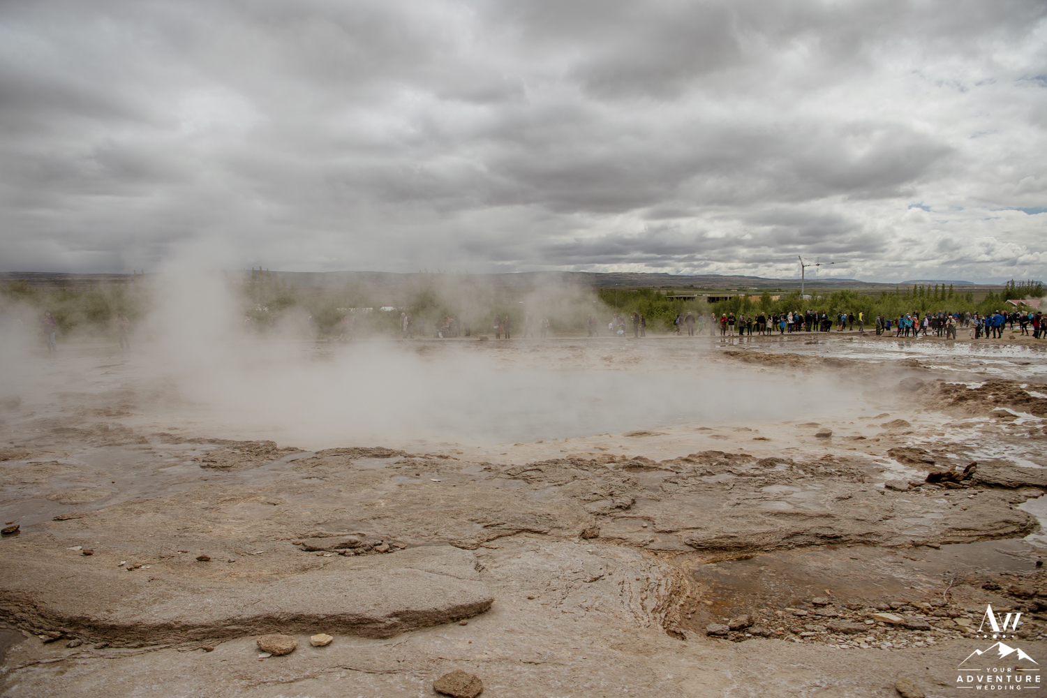 Big Geysir in Iceland before it errupts