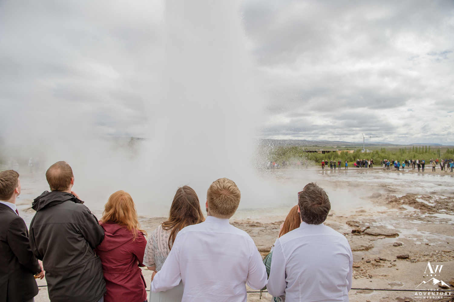 Iceland Wedding Group at Geysir