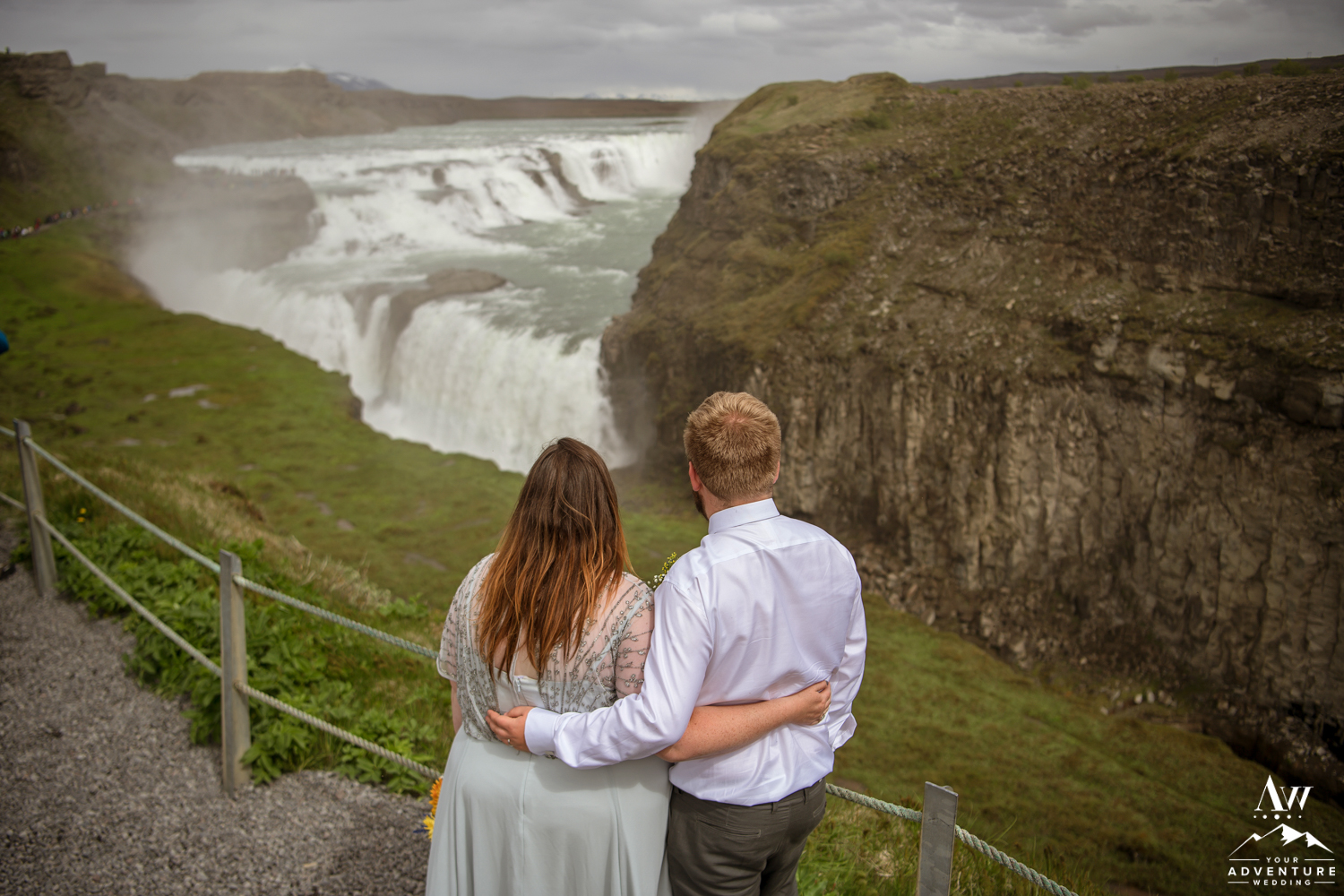 Gullfoss Waterfall Wedding Photos