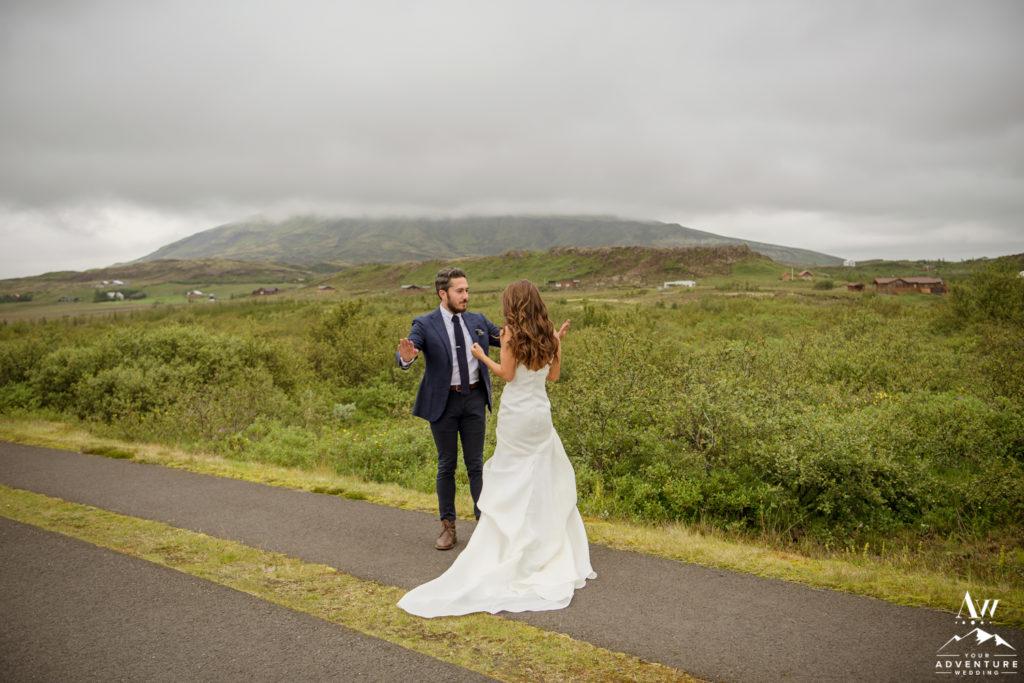 Whimsical Cliffside Elopement in Iceland | Iceland Wedding Planner
