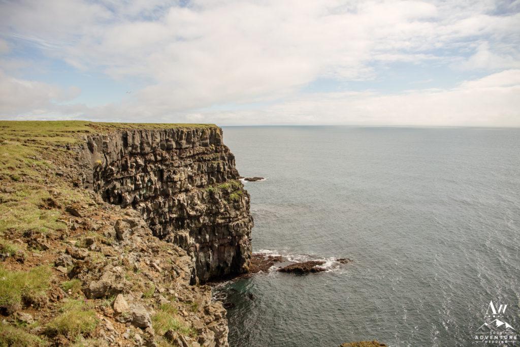 Cliffside wedding locations in Iceland Golden Cliffs